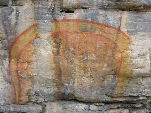 Die sprechenden Felsen der Aboriginies